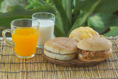 Burgers with Drink Stock Photos