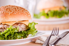 Burgers For Lunch Stock Photography