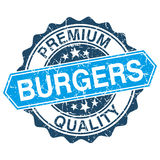 Burgers grungy stamp Royalty Free Stock Photography