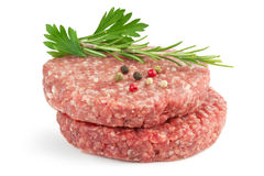 Burgers and herbs Stock Photography
