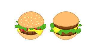 Burgers icon Stock Photo