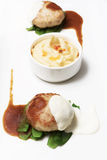 Burgers with mashed potatoes Stock Image