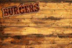 Burgers menu Royalty Free Stock Photography