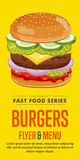 Burgers sale flyer. Royalty Free Stock Images
