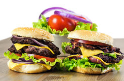 Burgers_on_table 22 10 16 免版税图库摄影