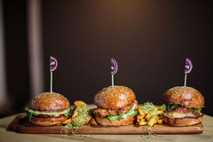 Burgers Royalty Free Stock Images