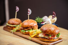 Burgers Stock Photos