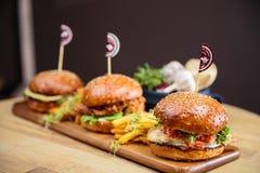 Burgers Stock Photos