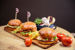 Burgers Stock Photography