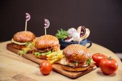 Burgers Stock Photography