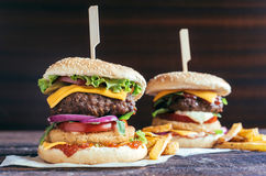 Burgers time Stock Image