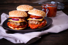 Burgers time Stock Photo