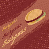 burgers vector poster Stock Images