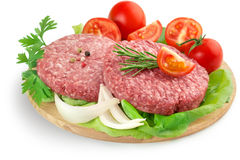 Burgers, vegetabels and herbs Royalty Free Stock Photo
