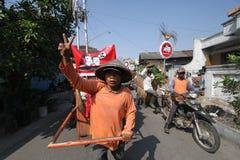 Burgersteun voor de President van Indonesië, Joko Widodo royalty-vrije stock foto's