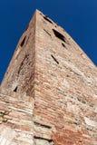 Burgertoren in de Malatesta-vesting in longiano Royalty-vrije Stock Foto's
