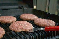 burgery grillów Zdjęcia Royalty Free