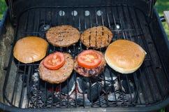 burgery grillów Fotografia Stock