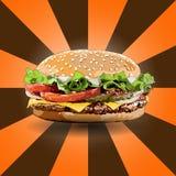 Burgerzoom heraus Stockfoto