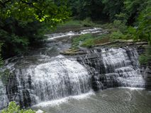 Burgess Falls Middle Falls Stock Photo