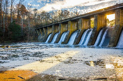 Burgess Falls State Park Dam, Tennessee Royalty-vrije Stock Fotografie