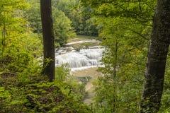 Burgess Middle Falls royaltyfri foto