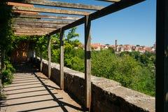 Burggarten im Rothenburg ob der Tauber Stockfotografie