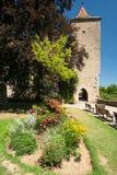 Burggarten im Rothenburg ob der Tauber Lizenzfreies Stockbild