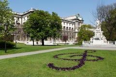 burggarten Mozart statuę Vienna obrazy stock