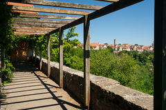 Burggarten in Rothenburg ob der Tauber Stock Photography