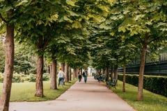 Burggarten Wiedeń ogród zdjęcia stock