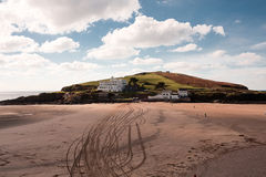 Burgh Island, Bigbury, Devon, UK. Burgh Island at Bigbury, Devon in the UK. Burgh Island has strong links with Agatha Christie Stock Image