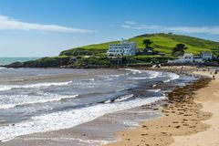 Burgh Island from  Bigbury-On-Sea Stock Photo