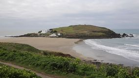Burgh Island South Devon England UK near seaside village of Bigbury-on-Sea and Challaborough stock footage