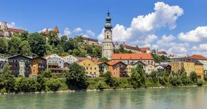 Burghausen, Baviera, Germania Fotografia Stock Libera da Diritti