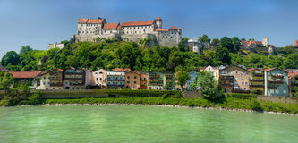 Burghausen Germany. A small city of Burghausen in south east Germany Stock Image