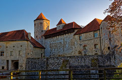 Burghausen main castle gateway building Stock Image