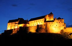 Burghausen at night Royalty Free Stock Image