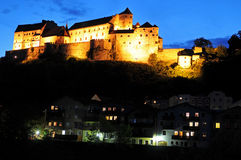 Burghausen at night Stock Image