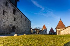 Burghausen and old castle, the Salzach. River. Germany Stock Images