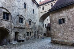 Burghausen and old castle, the Salzach. River. Germany Royalty Free Stock Images