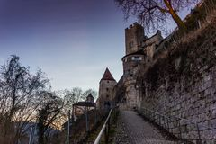 Burghausen and old castle, the Salzach. River. Germany Royalty Free Stock Image