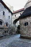 Burghausen and old castle, the Salzach. River. Germany Stock Photo
