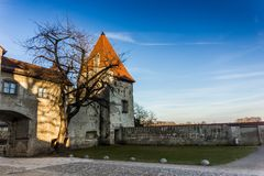 Burghausen and old castle, the Salzach. River. Germany Royalty Free Stock Photography