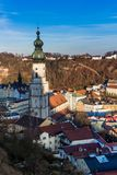 Burghausen and old castle, the Salzach. River. Germany Royalty Free Stock Photos