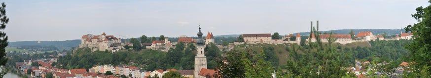 burghausen slottet Arkivfoto