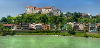 Burghausen Tyskland Fotografering för Bildbyråer