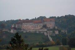 Burghausen - wereld langste kasteel, Duitsland Stock Foto's