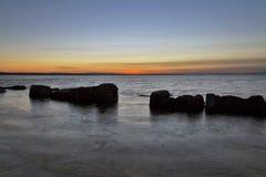 BURGHEAD BEACH SUNSET Stock Image