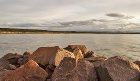 Burghead eine Ansicht von Roseisle. Lizenzfreies Stockfoto